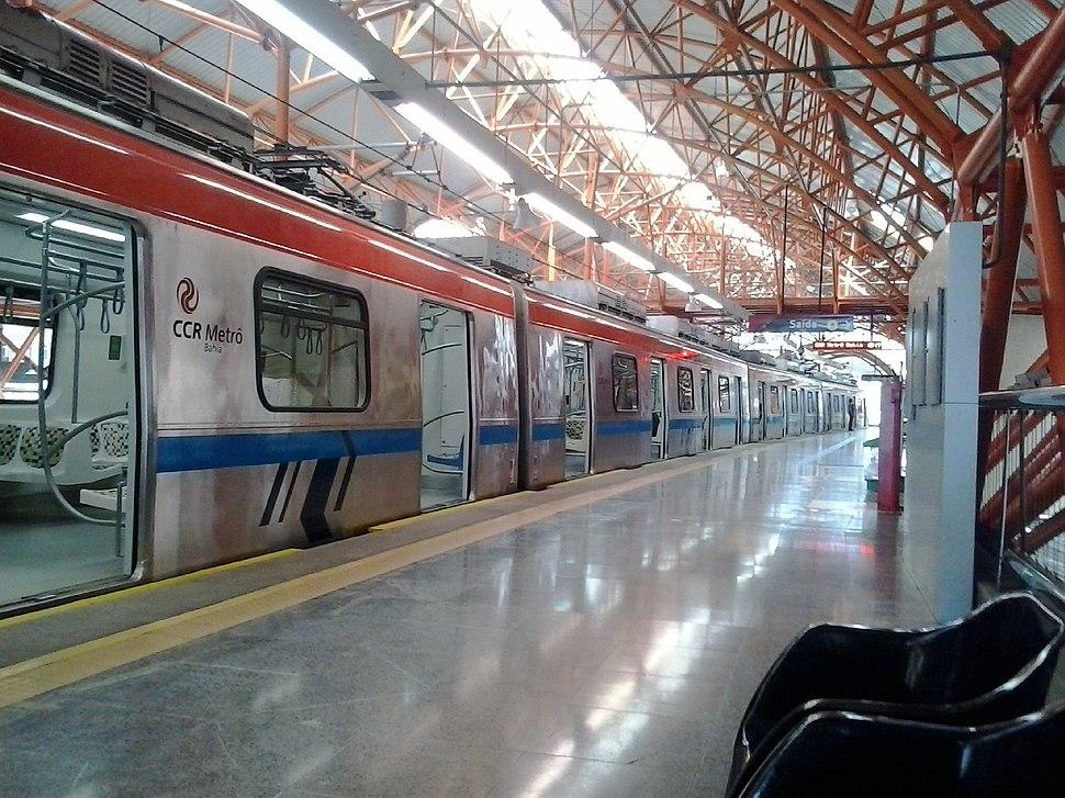 Metrô de Salvador na Estação Brotas