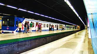 Plaza Elíptica (Madrid Metro) - Line 6 platforms, Plaza Elíptica