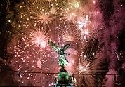 Szilveszteri tűzijáték Mexikóvárosban