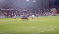 Michael McIndoe takes free kick. Bristol City vs. Crystal Palace 2nd Leg Play-Off Semi 13 May 2008.png