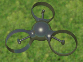 Micro drone de type Trirotor développé à SUPAERO.