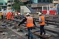 Midland Metro - track laying - Upper Bull Street - Birmingham 07.JPG