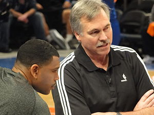 Mike D'Antoni - D'Antoni and Allan Houston with the Knicks.