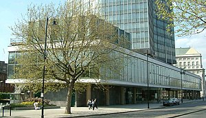 Millbank Tower - Image: Millbank Tower Base Millbank Westminster London 240404