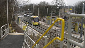 Milnrow tram stop - Milnrow tram stop, in February 2013