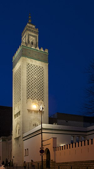 Minaret mosque of Paris