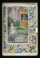 Miniature of David watching Bathsheba bathe, initial, border design, rubric and linefiller (NYPL b12455533-426897).tif