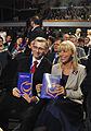 Ministrowie Krzysztof Kwiatkowski i Elżbieta Bieńkowska z Programem Wyborczym 2011 (6133567160).jpg