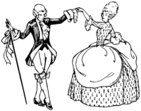 line art drawing of Minuet dance