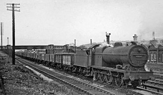 LMS Class 7F 0-8-0 - 49560 with a typical freight duty in 1950