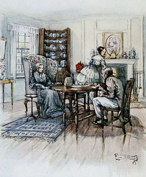 Elizabeth Gaskell - A scene from Cranford