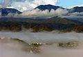 Misty suburbs and the Orongorongos, Wellington, New Zealand, 1 July 2006 - Flickr - PhillipC.jpg