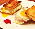 Mmm...eggs n ham on toast (4692922949).jpg