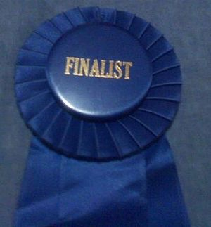Blue ribbon - A blue ribbon won at a convention.