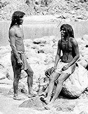 Loincloth - Two Mojave men in breechcloths