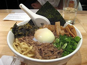 Momofuku (restaurants) - Pork ramen from New York restaurant Momofuku Noodle Bar