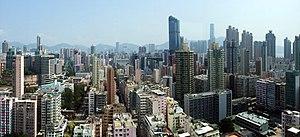 Mong Kok - Aerial view of Mong Kok