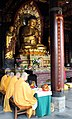 Monks inside the Daci'en Temple, Xi'an, China - panoramio (1).jpg