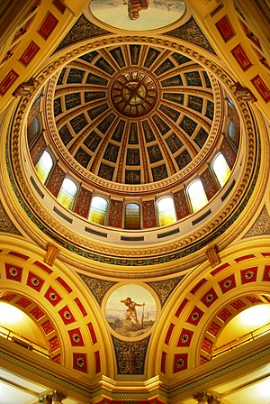 Montana State Capitol - Interior view of the dome