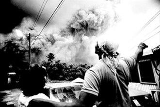 Soufrière Hills - Image: Montserrat Salem Eruption 1