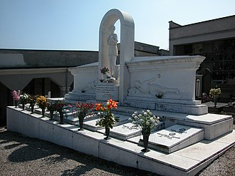 Italian resistance movement - Monument to the fallen at the burial place of partisans killed on April 26, 1945 at Montù Beccaria (2007)