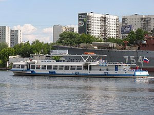Moskva-1 on Khimki Reservoir 22-jun-2012 02.JPG