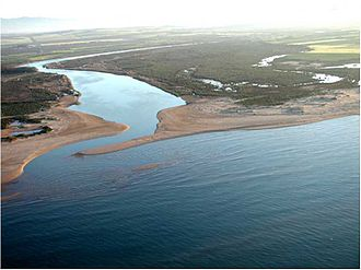 Moulouya River - View of the mouth of the Moulouya