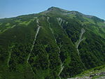 Mount Mitsumatarenge from Mount Jii 2004-08-13.jpg