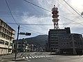 Mount Sarakurayama from Nishi-Hommachi Crossroads.jpg