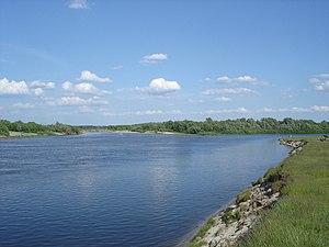 Moksha River - Image: Mouth of Tsna river