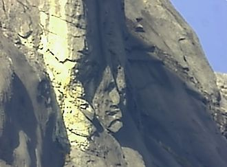 Mount Kinabalu - A visual illusion of a rock face on Mt. Kinabalu. Caught on camera from a location in Mesilau, December 2011.