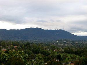 Dandenong Ranges - Image: Mt Dandenong from Mooroolbark