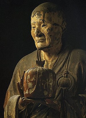 Unkei - Detail of Muchaku at Kōfuku-ji; National Treasure