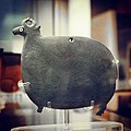 Mudstone palette in the form of a ram, with inlaid shell eyes Predynastic, Naqada I 4000-3600 BC EA 20910 (British Museum).jpg