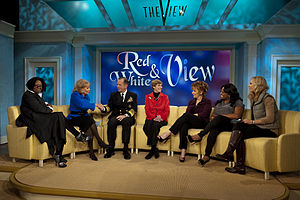 The View (talk show) - U.S. Navy Adm. Mike Mullen, Chairman of the Joint Chiefs of Staff, and his wife Deborah on The View on November 24, 2010.