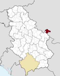 Location of the municipality of Kladovo within Serbia