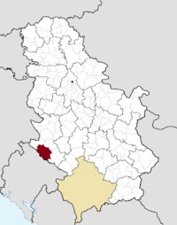 Location of the municipality of Prijepolje within Serbia