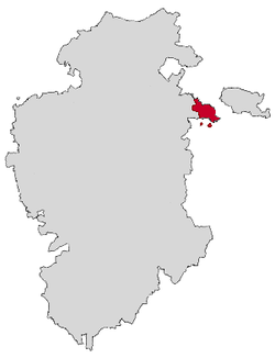 Location of Miranda de Ebro in the province of Burgos