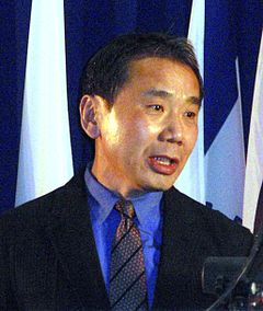 Murakami föreläser på Massachusetts Institute of Technology, 2005.