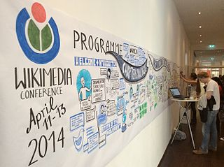 The image shows a very long, hand drawn mural outlining the conference