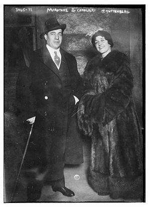 Lucien Muratore - Muratore and Lina Cavalieri circa 1915