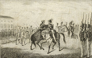 End of Basque home rule in Spain - Embrace of Bergara putting a term to the First Carlist War in the Basque Country