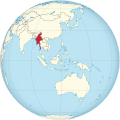 Myanmar on the globe (Southeast Asia centered).svg
