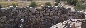 Cyclopean masonry - A typical stretch of Cyclopean walling (near Grave Circle A at Mycenae)