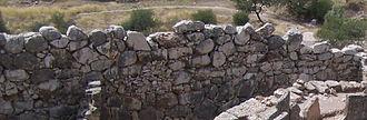 Cyclopean masonry - A typical stretch of Cyclopean walling (near Grave Circle A at Mycenae)