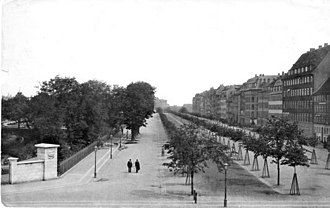 Nørre Voldgade - Nørre Voldgade viewed from Jarmers Plads in 1890