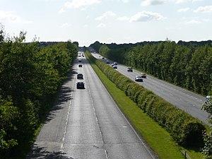 N6 road (Ireland) - Looking West: R446 Dual Carriageway (Old N6) between Oranmore and Ballybrit in Galway.