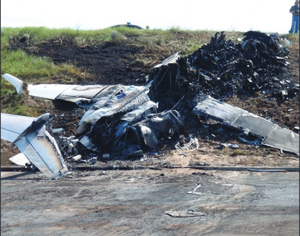 2008 South Carolina Learjet 60 crash - The remains of N999LJ