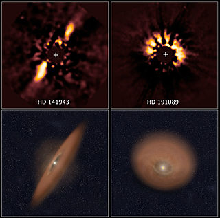 Planetesimal solid objects thought to exist in protoplanetary disks and in debris disks