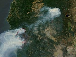 Biscuit Fire - Image: NASA Biscuit fire